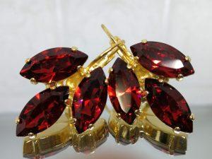 Gift for the bride, leaf earrings, drop earrings, Hanging earrings , women's earrings, acrylic earrings, Gold earrings, marquise earrings in a nickel-free gold finish. Model # 575