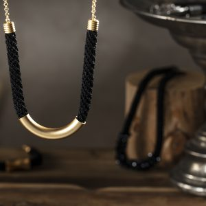 curved tube necklace